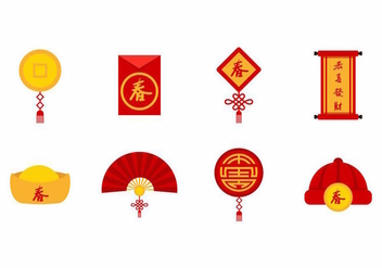 Free Chinese New Year Icons Vector - Kostenloses vector #388941
