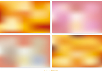 Blurred Vector Backgrounds - бесплатный vector #388951