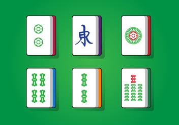 Mahjong Lucky Square - vector gratuit #388971