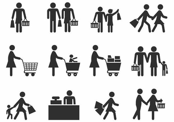 Free Family Shopping Vector - vector gratuit #388991