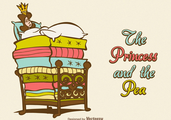 Free Vector The Princess And The Pea - vector gratuit #389101