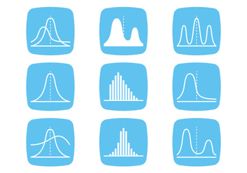 Bell Curve Icons - Kostenloses vector #389141