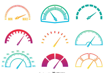 Meter Icons Gradient Colors Vector - vector gratuit #389171