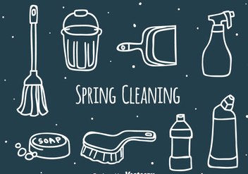 Hand Drawn Spring Cleaning Vector - vector gratuit #389191