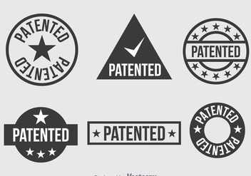 Patent Dark Grey Icons Set - vector #389201 gratis