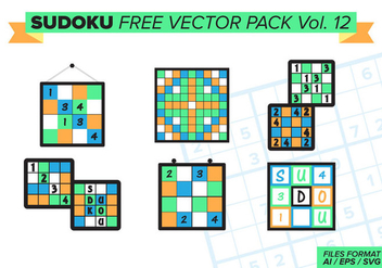 Sudoku Free Vector Pack Vol. 12 - бесплатный vector #389211