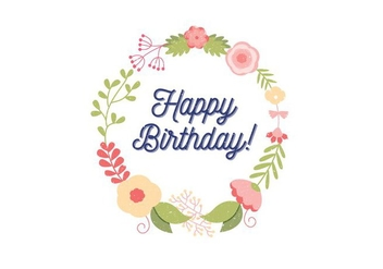 Birthday Card Illustration - vector gratuit #389281