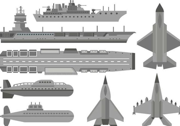 Free Military Aircraft Carrier Vector - бесплатный vector #389291