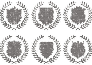 Grunge Crest Shapes - Free vector #389311
