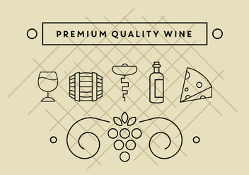 Free Wine Icons - vector gratuit #389321