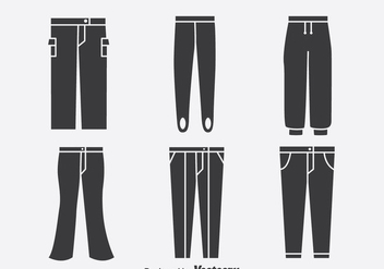 Pants Collection Icons Vector - Free vector #389511