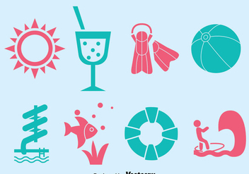 Water Park Element Vector Set - vector gratuit #389551