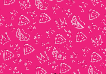 Holiday Purim Pink Background Pattern - vector gratuit #389561