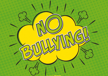 Comic Style No Bullying Allowed Illustration - Free vector #389601