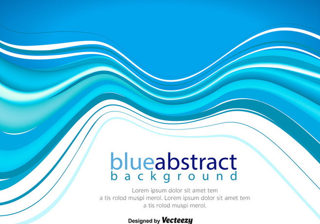 Vector Abstract Blue Wave Background - Free vector #389621