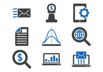 Marketing Icon Set - vector gratuit #389731
