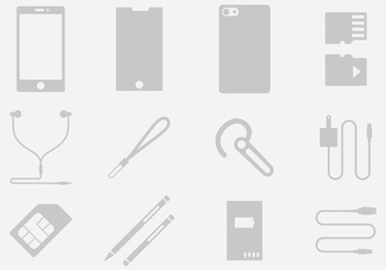 Gray Phone Accessories - бесплатный vector #389741