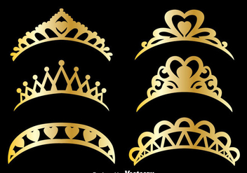 Gold Pageant Vector Set - Kostenloses vector #389761