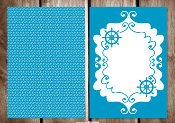 Blank Sailor Style Greeting Card Template - vector #389771 gratis