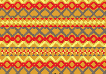 Geometric Ethnic Songket Pattern - vector gratuit #389801