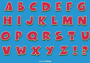 Fun Comic Vector Alphabet - Kostenloses vector #389871