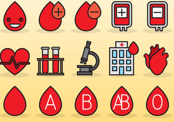 Cute Blood Drive Icons - vector gratuit #389881