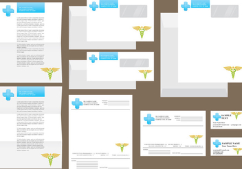 White Hospital Templates - vector #389891 gratis