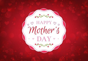 Free Vector Happy Moms Day Illustration - бесплатный vector #389981