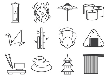 Free Japanese Icon Vector Pack - Free vector #389991