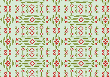 Decorative Stitch Motif Pattern - vector gratuit #390001