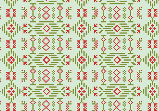 Decorative Stitch Motif Pattern - Free vector #390001
