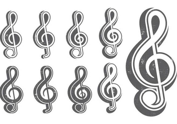 Classic G Clef icon - Free vector #390031