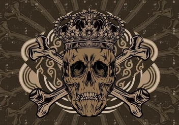 Crown Skull Vector - vector #390051 gratis
