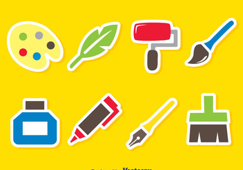Paint Tools Vector Set - Kostenloses vector #390171
