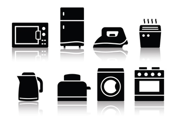 Free Minimalist Home Appliances Icons - vector #390261 gratis