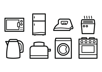 Free Home Appliances Icons - vector #390311 gratis