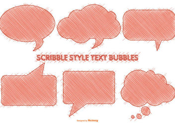 Scribble Style Speech Bubbles - vector gratuit #390351