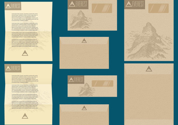 Rustic Letter And Envelope Templates - vector gratuit #390361