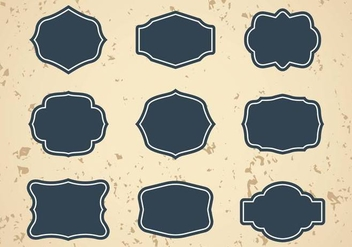 Free Vintage Frames or Cartouches Vector - бесплатный vector #390431