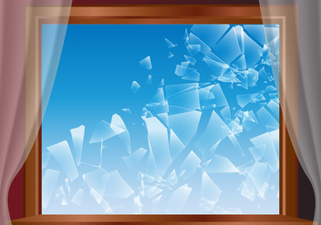 Broken Window Glass Vector - бесплатный vector #390461
