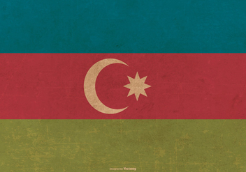 Grunge Flag of Azerbaijan - Free vector #390541