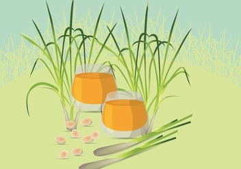Free Lemongrass Illustration - vector #390661 gratis
