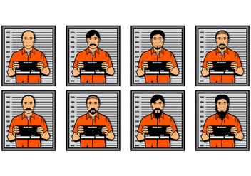 Free Mugshot Vector Illustration - бесплатный vector #390681