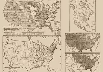 Antique Maps - Kostenloses vector #390731