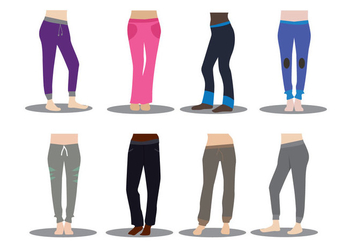 Sweatpants Vector - vector #390761 gratis