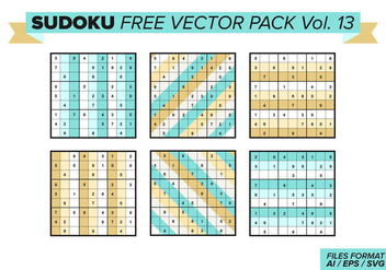 Sudoku Free Vector Pack Vol. 13 - vector gratuit #390801