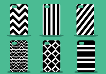 Phone Case Pattern Vector Set - Kostenloses vector #390811