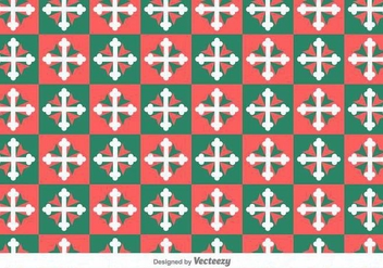 Maltese Cross Geometric Vector Pattern - Free vector #390941
