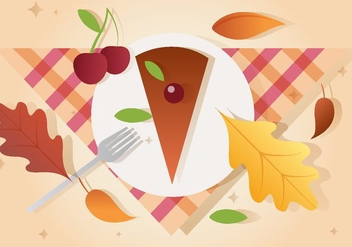 Free Vector Thanksgiving Piece of Pie - бесплатный vector #390981