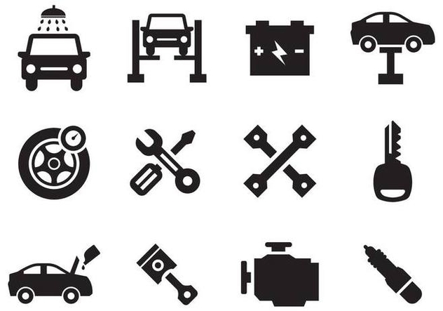 Free Car Maintenance Icons Vector - Free vector #391061